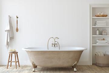 Bathroom interior. 3d render.