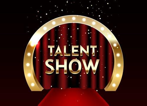 Talent show poster template. E