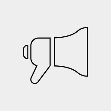 mega phone loud speaker vector icon