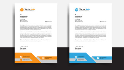 Modern And Clean colorful Letterhead Design Template Business Style Professional Template Design Creative Business Letterhead Design Template for your business