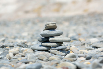 Photo sur Plexiglas Zen pierres a sable stack of stones on the beach