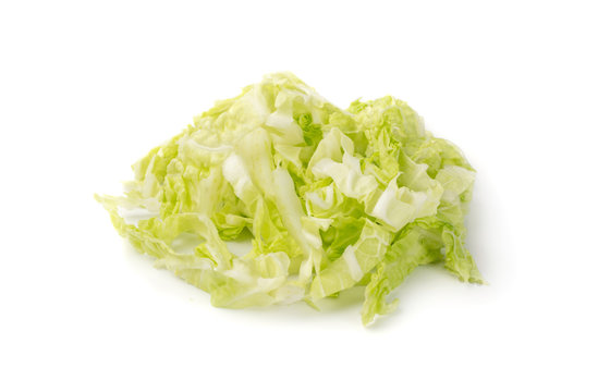 Heap of Chopped Chinese Cabbage, Napa Cabbage or Wombok