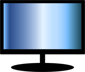 TV Screen hd, PC monitor - Isolated On White Background - Vector Illustration, Graphic Design Editable For Your Design