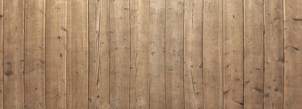 brown vertical wooden planks - wood texture for rustic background - top view