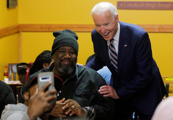 Democratic U.S. presidential candidate and former Vice President Joe Biden at Pearls Southern Cooking in Jackson