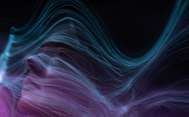 freezlight new photo art direction, long exposure photo without photoshop, light drawing at long exposure Wall mural