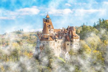 Wall Mural - Medieval Bran castle, Brasov landmark, Transylvania, Romania