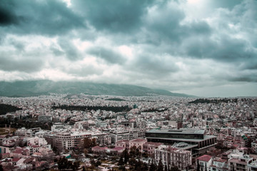Beautiful landscape of the city of Greece