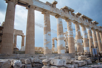 Beautiful landscape of the acropolis
