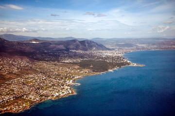 Beautiful landscape of the coast of Greece