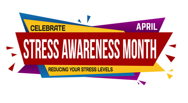 Stress awareness month banner design
