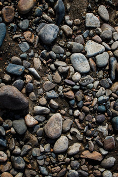 Pebble. Smooth stones. Stones background. Coloured stones. Natural background