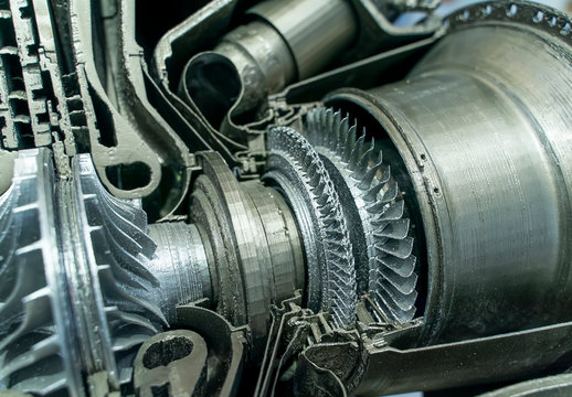 3d printer model of gas-turbine auxiliary power unit.