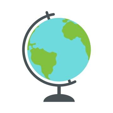 School Globe - model of Earth. celestial sphere of planet. Object of learning.