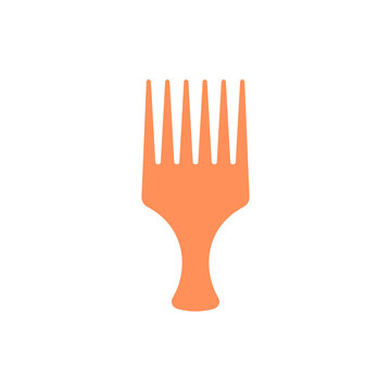 Afro Comb Vector Flat Icon  style illustration.