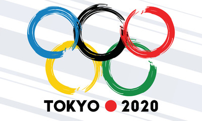 Nadym, Russia - 08 February 2020: Tokyo 2020. The Summer Games in Japan. Sport Event Logo Design