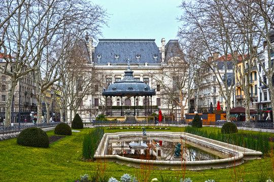 Saint-Etienne, France - January 27th 2020 : Focus on the prefecture of Saint-Etienne, located on Place Jean Jaurès.