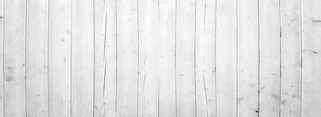 white vertical wooden planks - wood textur for rustic background - top view Wall mural