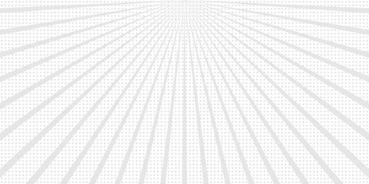 Abstract vector sunbeams background with dots.