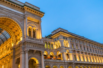 The building of classical architecture with evening illumination Wall mural