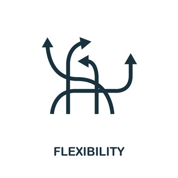 Flexibility icon. Simple element from business disruption collection. Filled Flexibility icon for templates, infographics and more