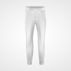 Fototapeta White jogging pants, joggers sportswear mockup obraz
