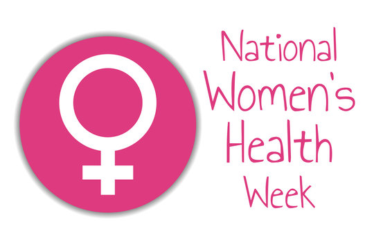 National Women's Health Week. May. Holiday concept. Template for background, banner, card, poster with text inscription. Vector EPS10 illustration.