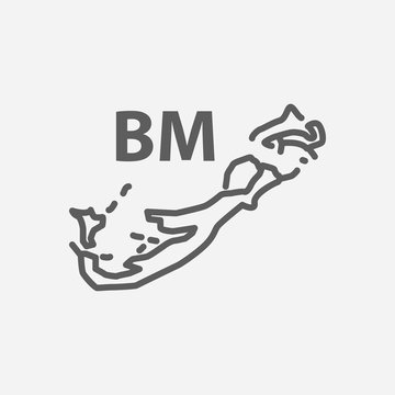 Bermuda icon line symbol. Isolated vector illustration of icon sign concept for your web site mobile app logo UI design.