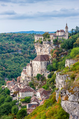 Fototapete - Rocamadour in Lot Department, France