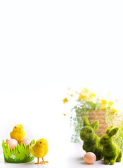easter decoration on whie background