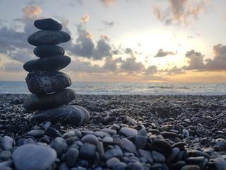 Photo sur Plexiglas Zen pierres a sable Stacking balance
