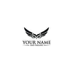 Canvas Prints Owls cartoon owl logo of lines Owl logo - vector illustration. Emblem design on white background simple owl logo design element template