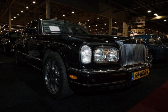 MAASTRICHT, NETHERLANDS - JANUARY 08, 2015: Full-size luxury car Rolls-Royce Silver Seraph, 2000. International Exhibition InterClassics & Topmobiel 2015