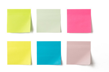 Set of colorful sticky notes Fotobehang