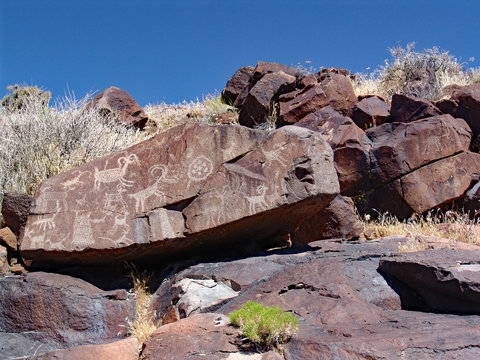 Little Petroglyph Canyon in California is a rock art site containing over 100,000 Petroglyphs by Paleo-Indians and/or Native Americans.