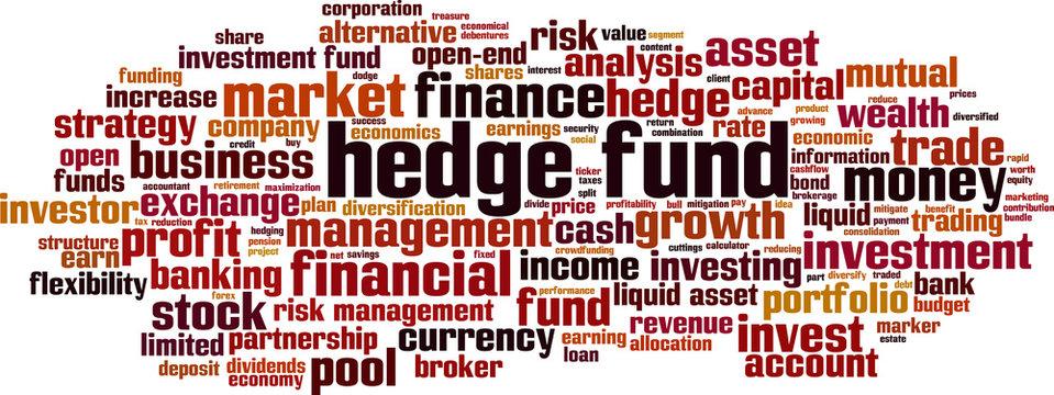Hedge fund word cloud