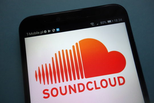 KONSKIE, POLAND - SEPTEMBER 15, 2018: Soundcloud logo on smartphone