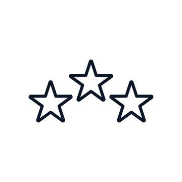 three stars line style icon vector design