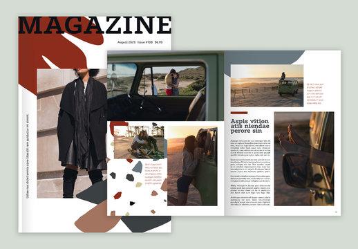Geometric Terrazzo Magazine Layout
