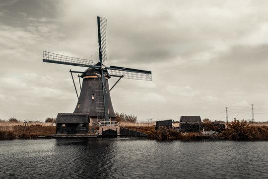 Bucolic dutch windmill