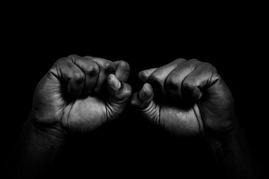 hand in black glove