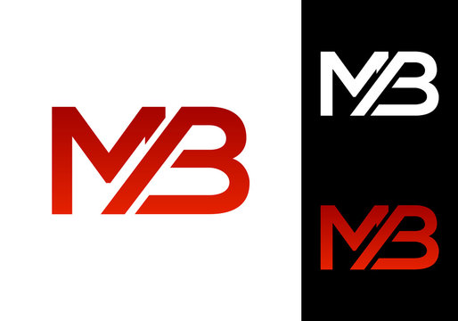 M B MB Initial Letter Logo design vector template, Graphic Alphabet Symbol for Corporate Business Identity