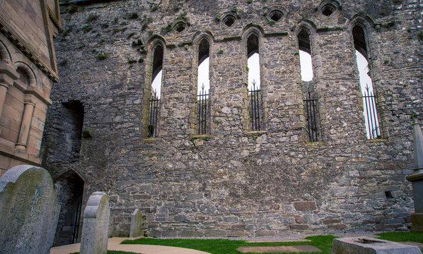 rock of cashel wall in Ireland