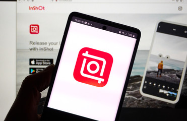 Inshot application on Android cellphone screen