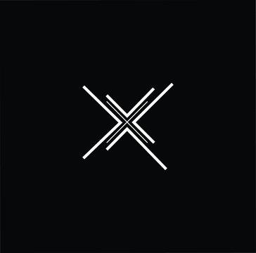 Minimal elegant monogram art logo. Outstanding professional trendy awesome artistic X XX XXX initial based Alphabet icon logo. Premium Business logo White color on black background