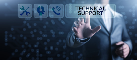 Fototapeta Technical support customer service guarantee quality assurance concept. obraz