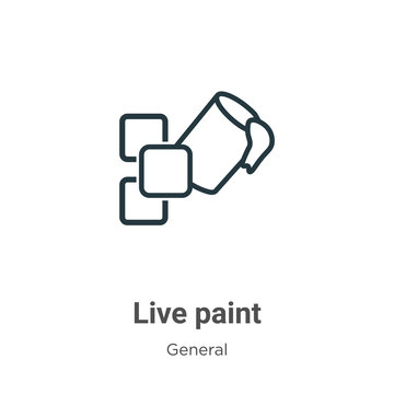Live paint outline vector icon. Thin line black live paint icon, flat vector simple element illustration from editable general concept isolated stroke on white background