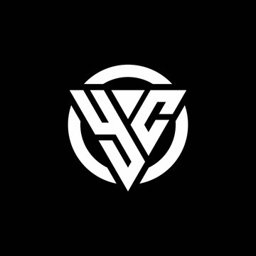 YC logo with triangle shape and circle rounded design template