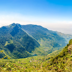 Wall Mural - View to the valley from Worlds End in Horton Plains National Park - Sri Lanka