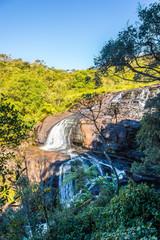 Fototapete - View at Bakers Fall in National Park Horton Plains, Sri Lanka